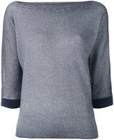 Armani Jeans striped sweater - women - Polyester/Viscose - 38