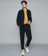 Reiss Balham - Mercerised Crew Neck T-shirt in Mustard