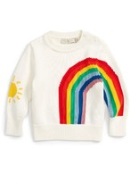 Stella McCartney Infant Girl's Pumpkin Rainbow Sweater