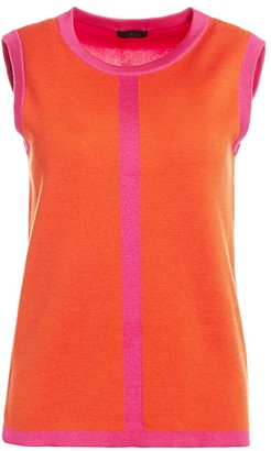 Escada Sinnar Silk & Wool-Blend Sleeveless Shell Top