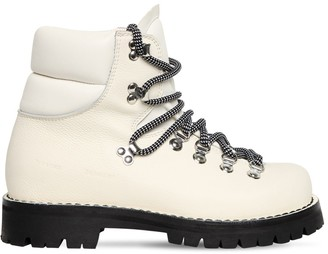Proenza Schouler 30mm Leather Hiking Boots