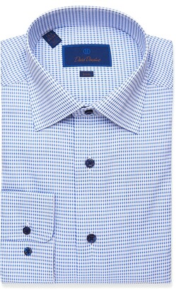 David Donahue Slim Fit Check Dress Shirt