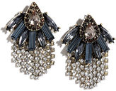 LuLu*s Spotlighting Blue Rhinestone Earrings