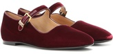 The Row Ava Velvet Mary Jane Ballerinas