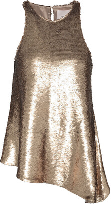 Cinq à Sept Dylan Sequined Stretch-knit Top
