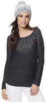 New York & Co. Embellished Lurex Tunic Sweater
