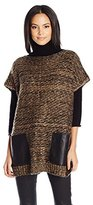 Collection XIIX Women's Textured Pocket Poncho