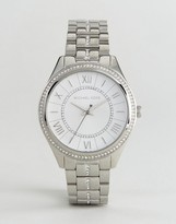 Michael Kors MK3718 Lauryn Glitter Bracelet Watch In Silver