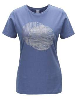 BOSS Crew-neck T-shirt in washed cotton with foil print