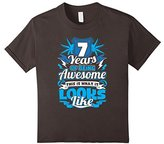 Kids 7th Birthday Shirts - 7 Years Of Being Awesome