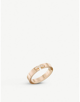 Chaumet Women's Pink Liens 18ct Pink-Gold Wedding Band, Size: 50mm