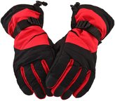 Simplicity Men's Winter Waterproof Ski Gloves for Sports & Camping, Red Black
