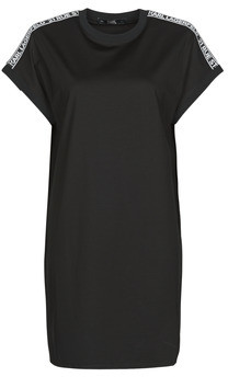 Karl Lagerfeld Paris MERCERIZED JERSEY DRESS W/LOGO women's Dress in Black