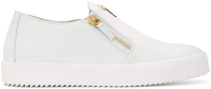 Giuseppe Zanotti White May London Slip-On Sneakers