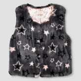 Cat & Jack Girls' Star Print Fur Vest Cat & Jack - Gray