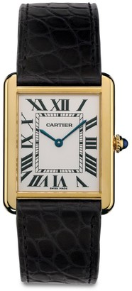 Cartier Tank Solo Large 18K Yellow Gold & Black Alligator-Strap Watch