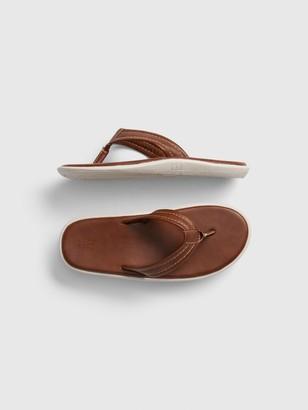 Gap Kids Faux-Leather Flip Flops