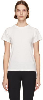 Moncler White Matt Black Logo Stripe T-Shirt