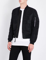 Marcelo Burlon County of Milan Badge-detail shell bomber jacket