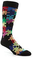 K. Bell Jigsaw Puzzle Crew Socks