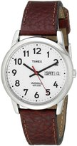 Timex Men's Easy Reader Brown Leather Watch #T20041