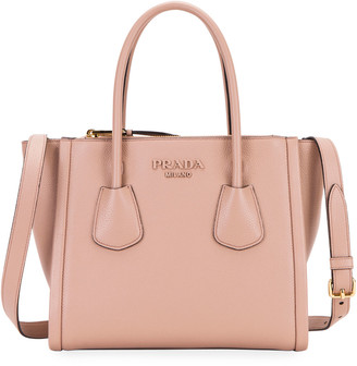 Prada Vitello Leather Multi-Zip Medium Tote Bag