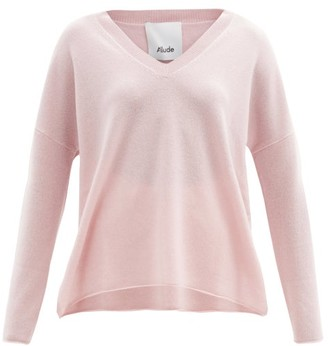 Allude V-neck Cashmere Sweater - Pink