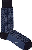 Reiss Reiss Zimmer - Patterned Socks In Blue