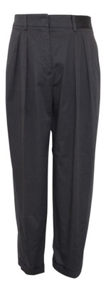 Aquilano Rimondi Grey Cotton Trousers for Women