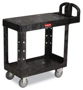 Rubbermaid 4505 500lb HD 2-Shelf Utility Cart Flat Shelf