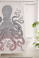Urban Outfitters Nate Duval Giant Octopus Shower Curtain