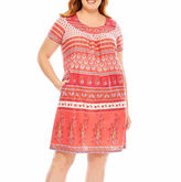 Asstd National Brand Knit Pattern Nightgown-Plus