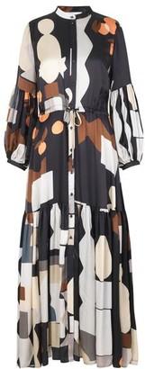 MUNTHE Emmanuel Printed Midi Dress - Black / DK40 - UK14