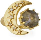 Indulgems Celestia Labradorite Moon Ring