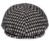 Tagliatore Men's White/black Cotton Hat.