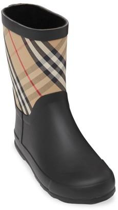 Burberry Little Girl's & Girl's Ranmoor Check Rain Boots