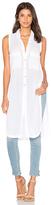 Bobi Gauze Button Up Sleeveless Mini Dress