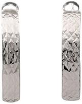 Lord & Taylor Sterling Silver Diamond Cut Flexi Hoop Earrings