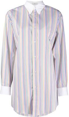 Etro Stripe-Print Long-Sleeved Shirt