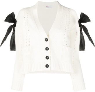 RED Valentino Bow Applique Cardigan