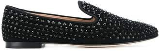 Giuseppe Zanotti David studded loafers