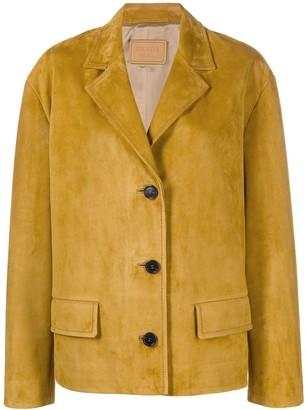 Prada Brushed Leather Jacket