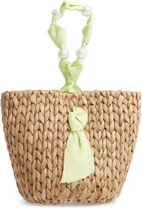 Pamela Munson Isla Bahia Small Straw Basket