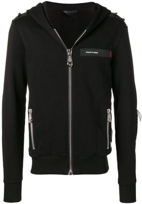 Philipp Plein logo panelled hoodie