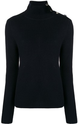 RED Valentino Buttoned Funnel Neck Jumper