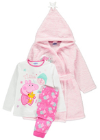 George Peppa Pig Pyjama and Dressing Gown Set
