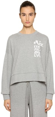 Aalto Evol Printed Cropped Sweatshirt