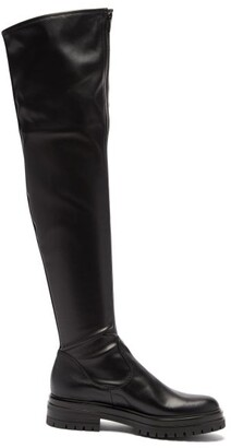 Gianvito Rossi Marsden Zip-front Leather Over-the-knee Boots - Black
