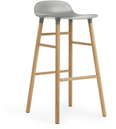 Normann Copenhagen Form Barstool H75cm Grey/Oak