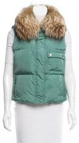 Burberry Fur-Trimmed Puffer Vest